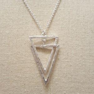 Jewelry - Interlocking Triangle Pendant Necklace